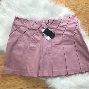 NWT.  Ted Baker | Pink Beaded Mini Skirt, L